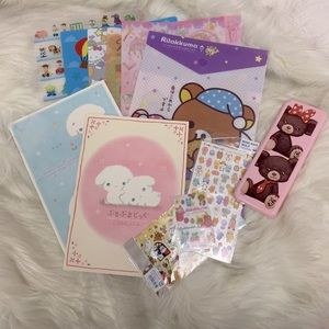 Disney & Japanese Characters Stationary Bundle